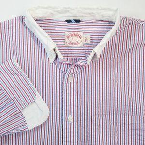 Brooks Brothers Striped Button Down Shirt Sz L EUC
